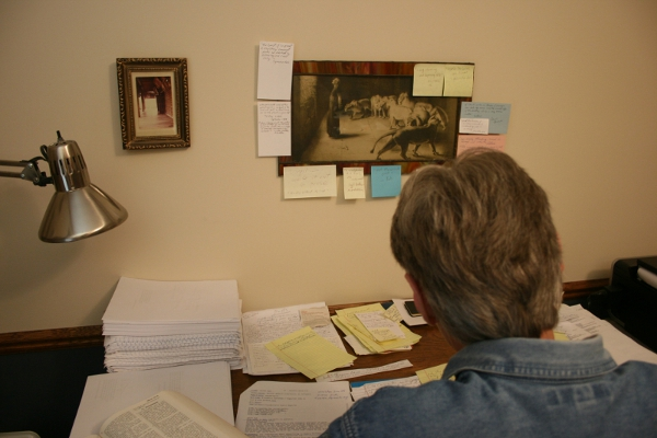 Working on BOOK IV, June 21, 2012